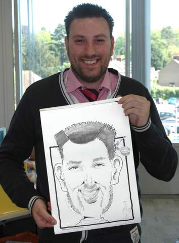 Caricaturist Paul has been drawing portraits for 25 years.
