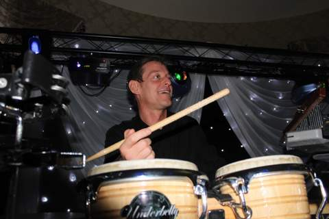 At a Wedding in Luton with percussionist Jay on Drums