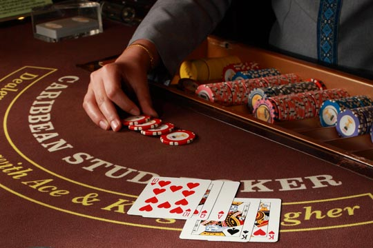 Play Caribbean Stud Poker at your Event with Platinum Entertainment Agency