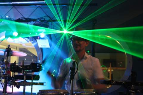 Jay on Drums is a professional percussionist, book him alongside our Professional DJs