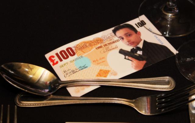 Platinum Entertainment Agency personalises money for Fun Casino hire.