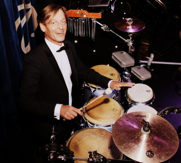 Performance by Jay on Drums for a Bar Mitzvah at Cafe de Paris in London.