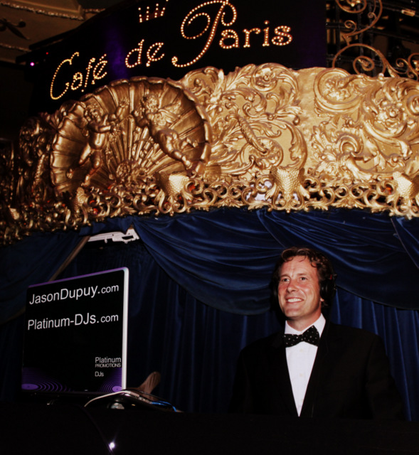 In London at Cafe de Paris with DJ Jason Dupuy performing for a James Bond themed night.