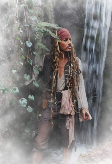 In the mist at Platinum Entertainment Agency with Jack Sparrow.