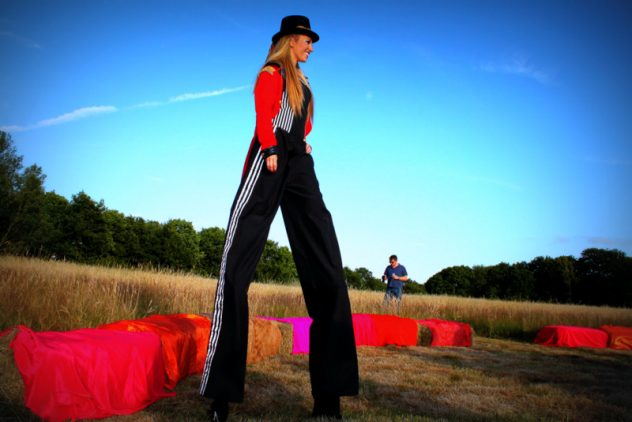Stilt walkers for large events provided by Platinum Entertainment Agency .