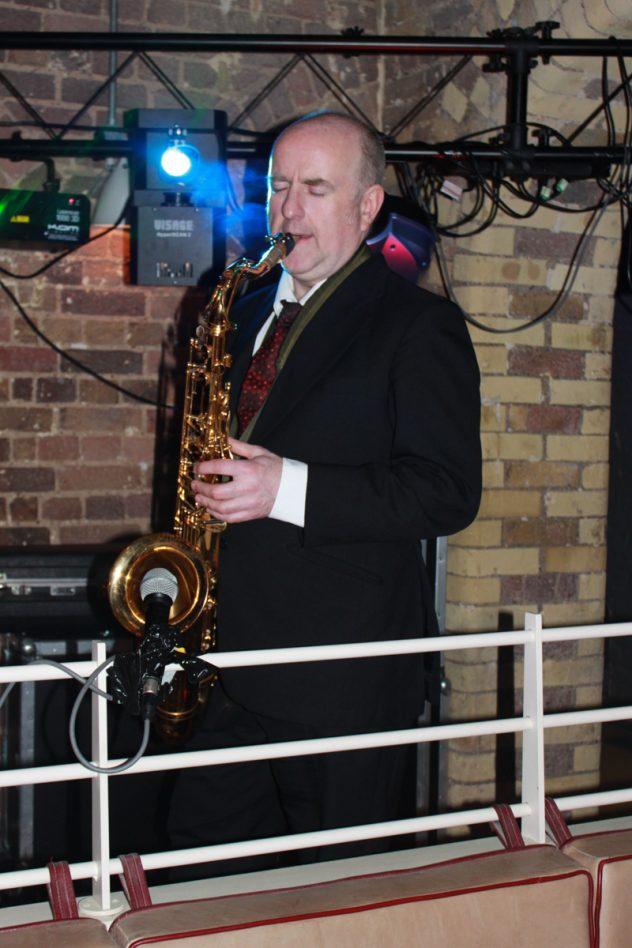 Kent Sas player John performing alongside the DJ.