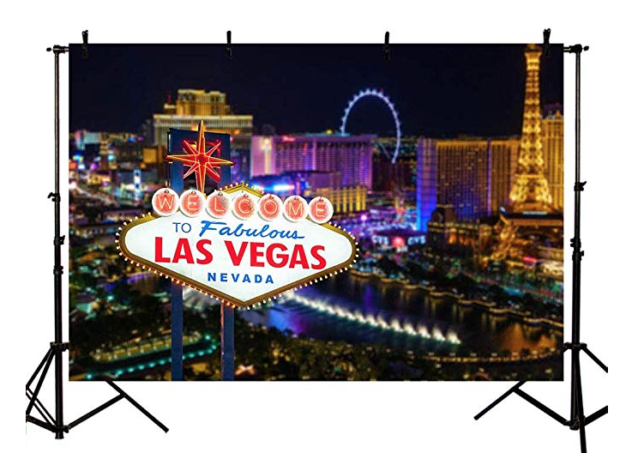 Hire a Las Vegas backdrop with Casino Tables.